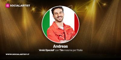 Amici Speciali con Tim insieme per l'Italia, la scheda di Andreas Muller