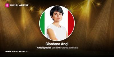 Amici Speciali con Tim insieme per l'Italia, la scheda di Giordana Angi