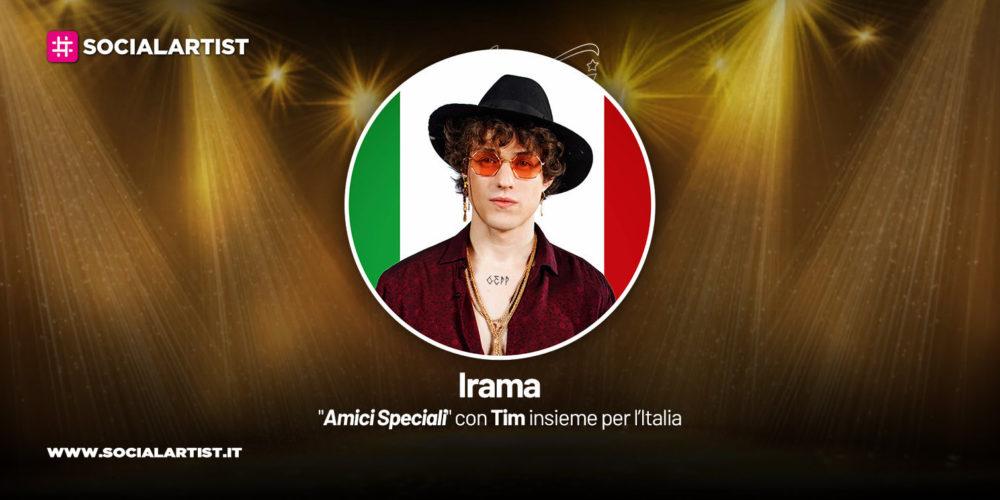 """Irama vince """"Amici Speciali, con Tim insieme per l'Italia"""""""