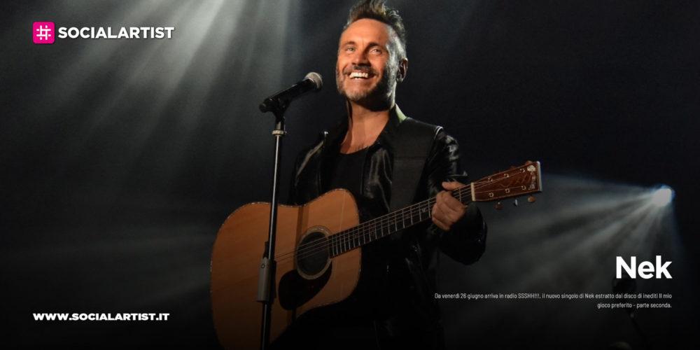 """Nek, le date del tour 2020 """"Solo: Chitarra e Voce"""""""