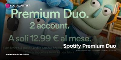 """Spotify, arriva anche il Italia """"Spotify Premium Duo"""""""