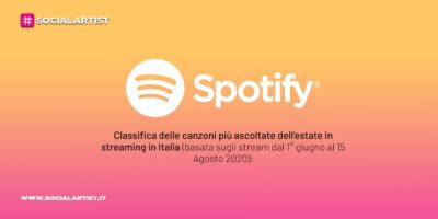 Spotify, la classifica dei brani e podcast più ascoltati dell'estate su Spotify