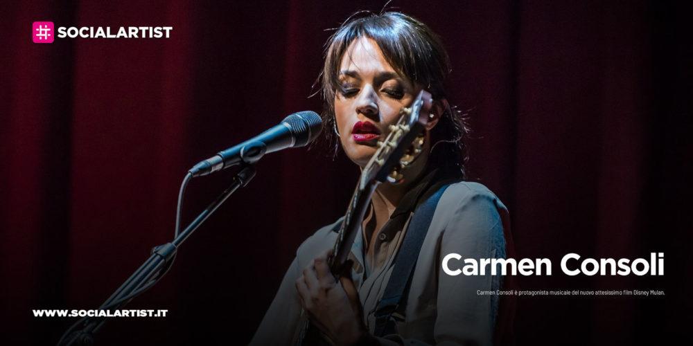 "Carmen Consoli, protagonista del nuovo film Disney ""Mulan"""