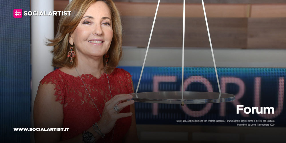 "Canale 5, da lunedì 14 settembre torna ""Forum"""