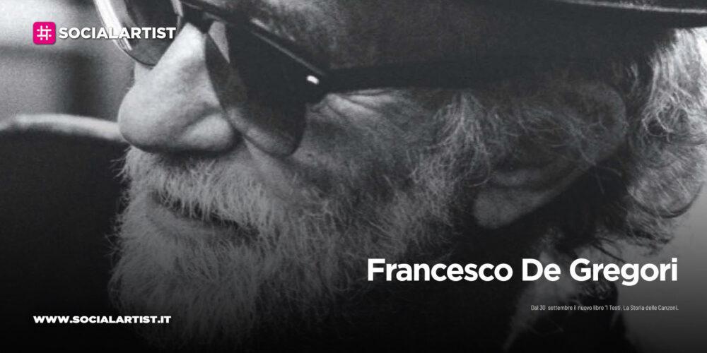 """Francesco De Gregori, dal 30  settembre il nuovo libro """"I Testi"""""""