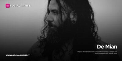"""De Mian, dal 29 ottobre il nuovo singolo """"Giorni"""" feat. Sveno"""