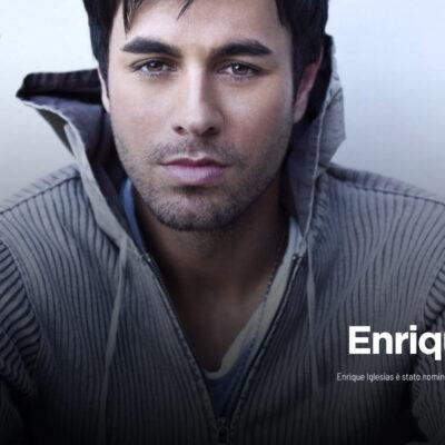 "Enrique Iglesias, nominato ai ""TOP Latin Artist of All Time"""
