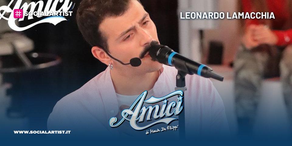 Amici 20, la scheda del cantautore Leonardo Lamacchia
