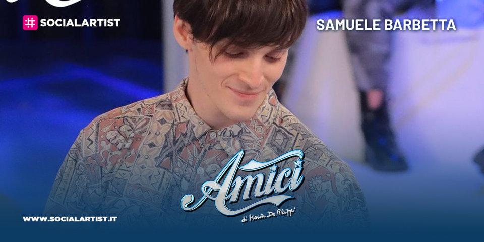 Amici 20, la scheda del ballerino Samuele Barbetta