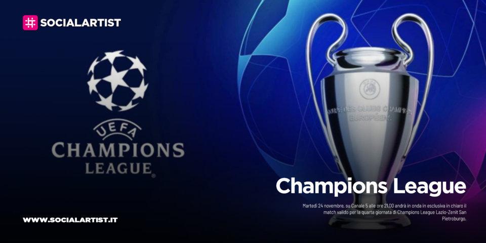Canale 5, martedì 12 novembre la quarta giornata di Champions League