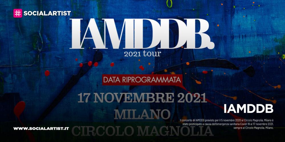 IAMDDB, le date del tour 2021