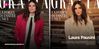 """Laura Pausini, direttrice del magazine """"Grazia"""""""