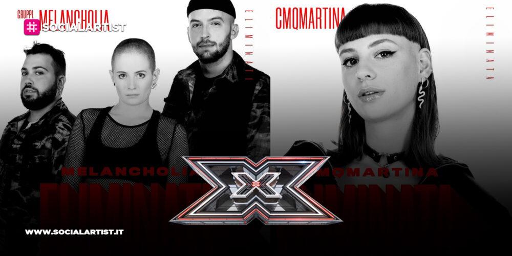 X Factor 2020, Melancholia e Cmqmartina eliminati al quinto live show