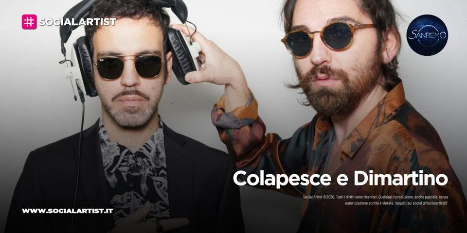 """Colapesce e Dimartino, in gara a Sanremo 2021 con il brano """"Musica leggerissima"""""""