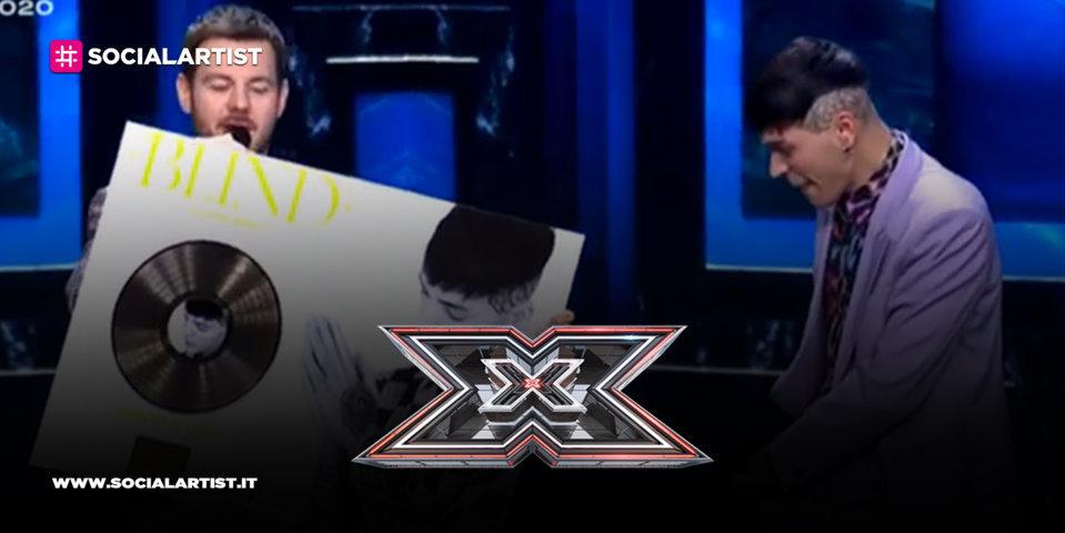 """X Factor 2020, Blind riceve il disco d'oro per """"Cuore nero"""""""