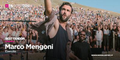 """SA Awards 2020, va all'""""Esercito"""" di Marco Mengoni il premio di """"Best Fandom"""""""