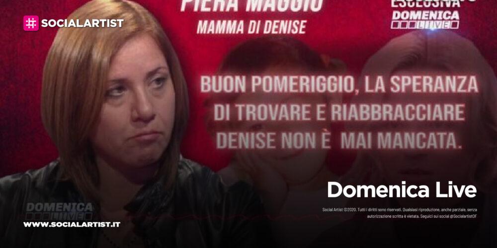 Domenica Live, l'audio messaggio di Piera Maggio