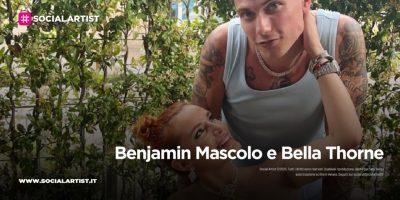 Benjamin Mascolo e Bella Thorne sul palco del Milano Pride 2021