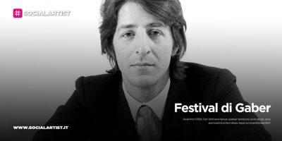 Festival Gaber, dal 9 luglio al 20 agosto 2021
