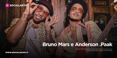 """Bruno Mars e Anderson .Paak, dal 30 luglio il nuovo singolo """"Skate"""""""